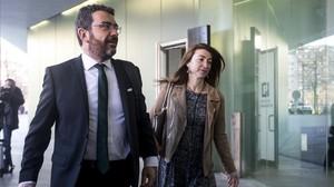 El abogado de CDC, Francesc Sanchez, a su llegada al juicio del caso Palau.