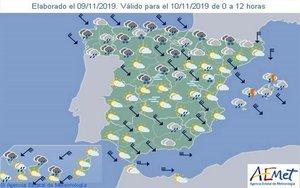 Gráfico del clima elaborado por laAgencia Estatal de Meteorología (Aemet).