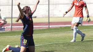 Alexia Putellas celebra un gol.