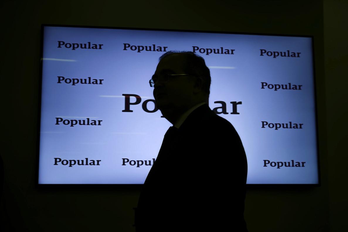 Ángel Ron, expresidente del Popular, en la presentación de resultados del 2016.