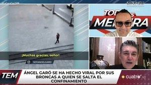 """Ángel Garó, viral tras convertirse en policía desde su balcón: """"La mayoría de los que veía por la calle eran ingleses"""""""