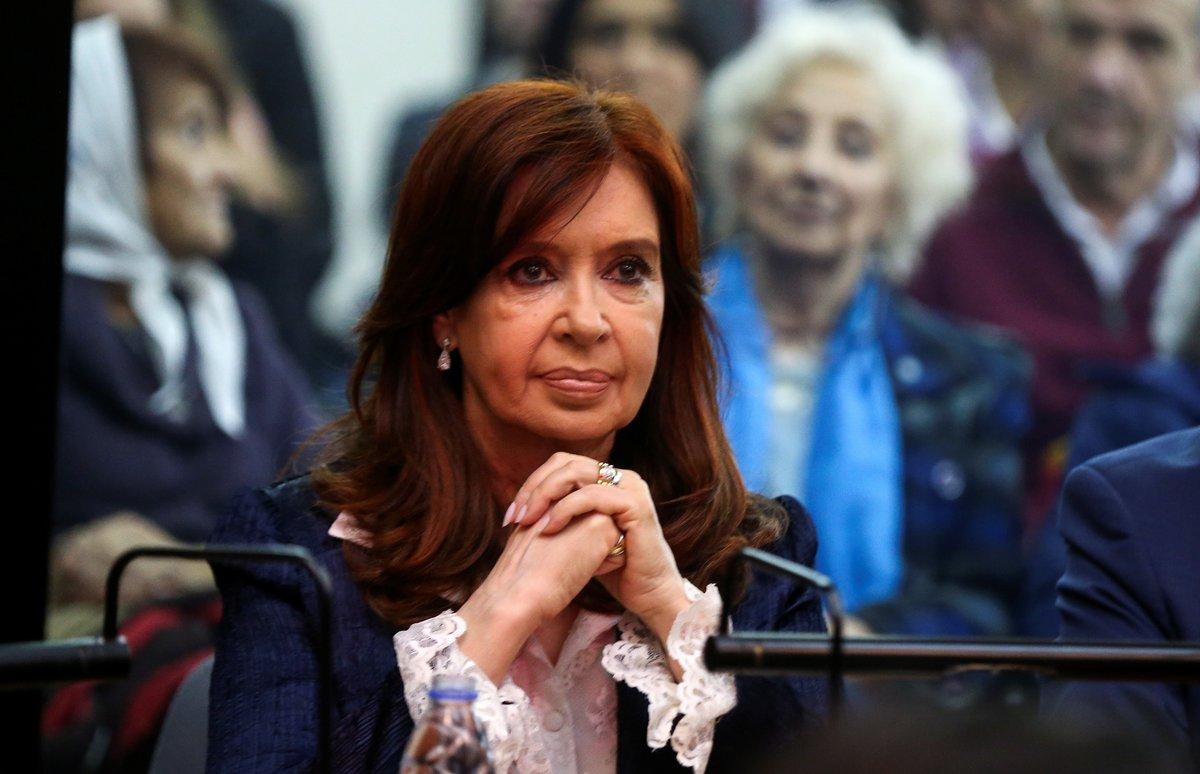 Cristina Fernández durante el juicio en su contra en Argentina.