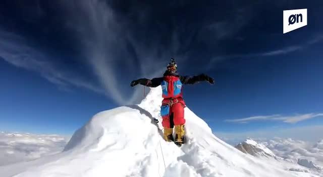 Así ha sido el ascenso de Sergi Mingote a la cima del Manaslu, a 8.163 metros.