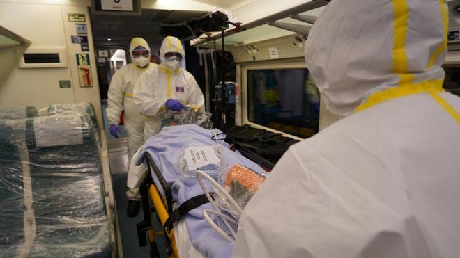 Así son los trenes medicalizados para trasladar a enfermos de coronavirs entre comunidades.