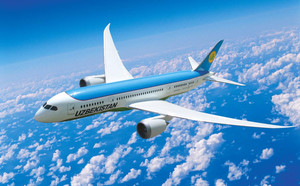 Un avión de Uzbekistan Airways.