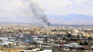 Un bombardeo en la ciudad de Sanaa, en Yemen, la semana pasada.