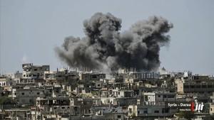 Imagen de los bombardeos en Siria.