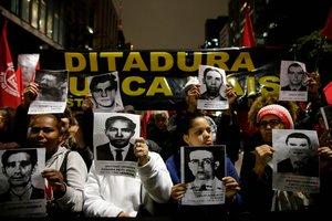 Retratos de las personas desaparecidos duranta la dictadura militar en Brasil.
