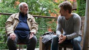 Brian de Palma y Nikolaj Coster-Waldau, en el rodaje de 'Domino'