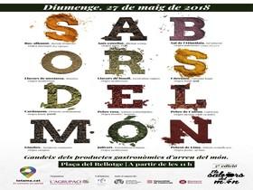 Cartel de la muestra Los sabores del mundo.