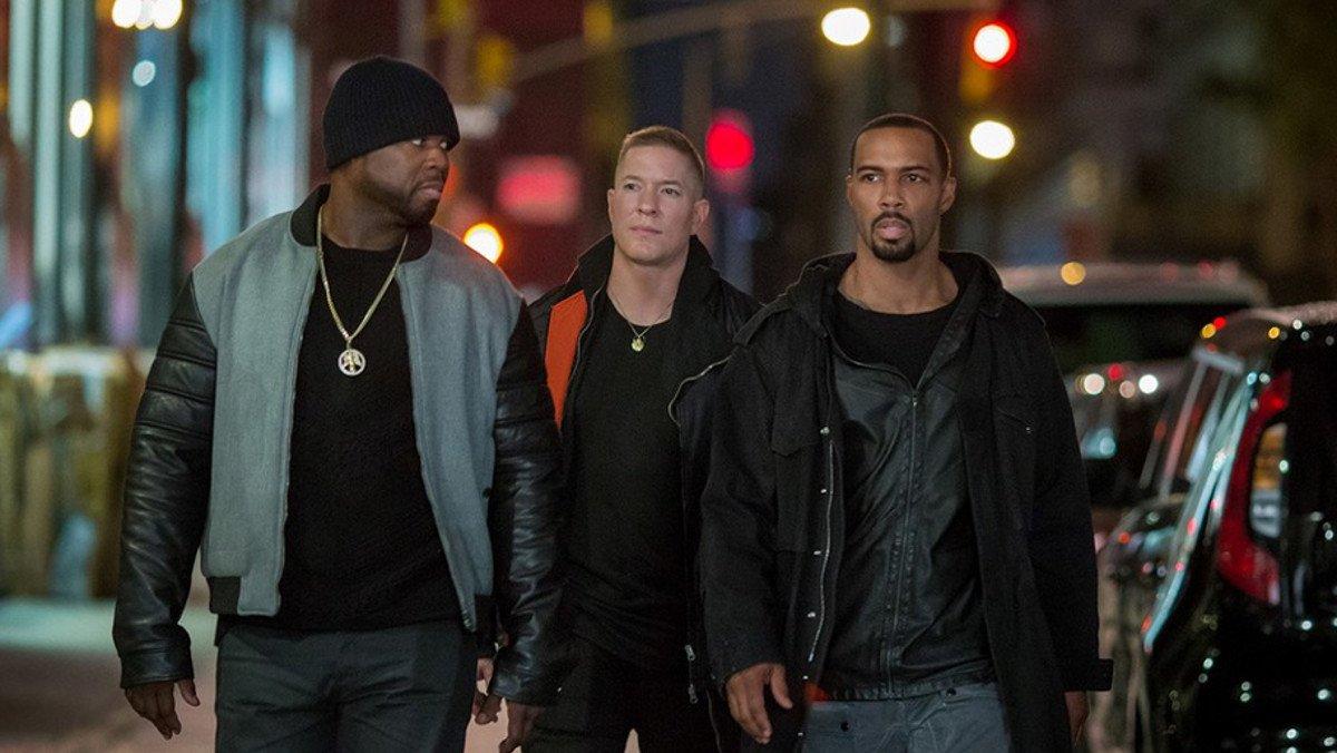 50 Cent, Joseph Sikora y Omari Hardwick, en la serie 'Power'.