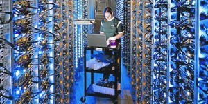 Un centre d'emmagatzematge i processament de dades de Google, a Oregon (EUA).