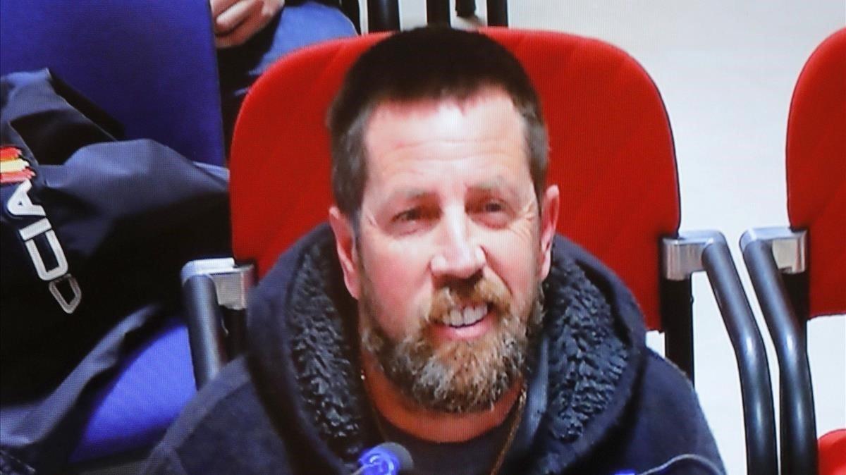 José Enrique Albuín Gey, alias 'el Chicle', en el banquillo de acusados el pasado 10 de abril.