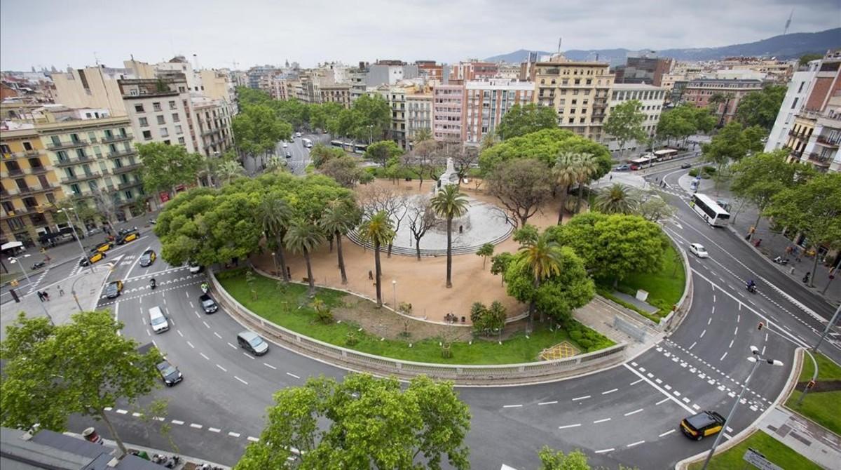 La plaza de Tetuan de Barcelona.