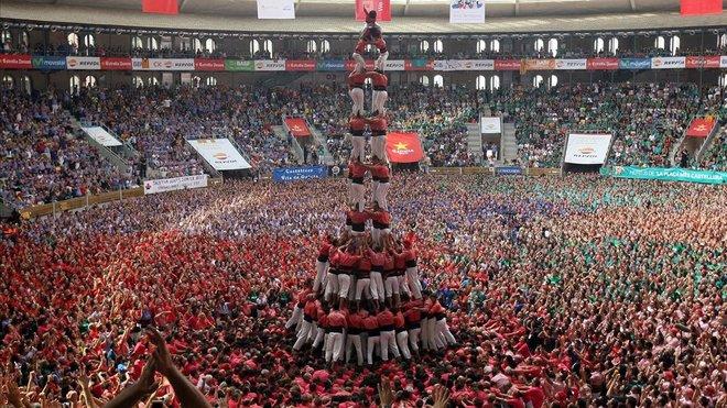 La Colla Vella de los Xiquets de Valls, en el 2016.