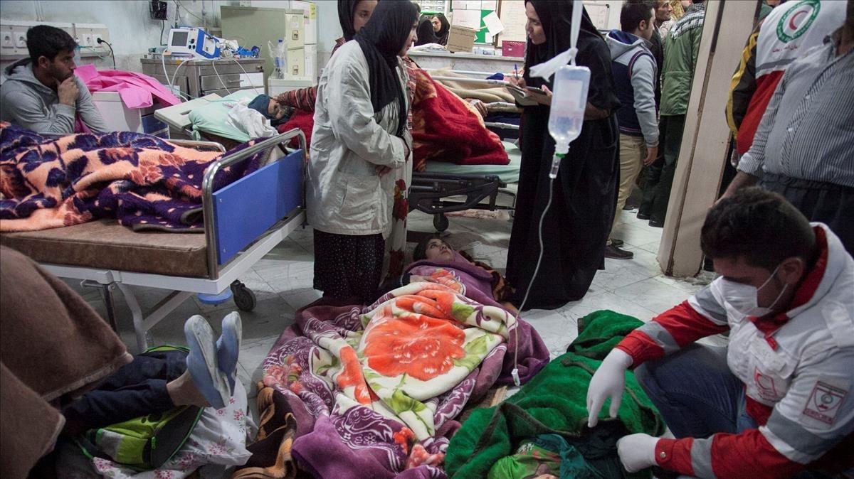 El condado Sarpol-e Zahab en Kermanshah, Irán, una de las zonas más afectadas.