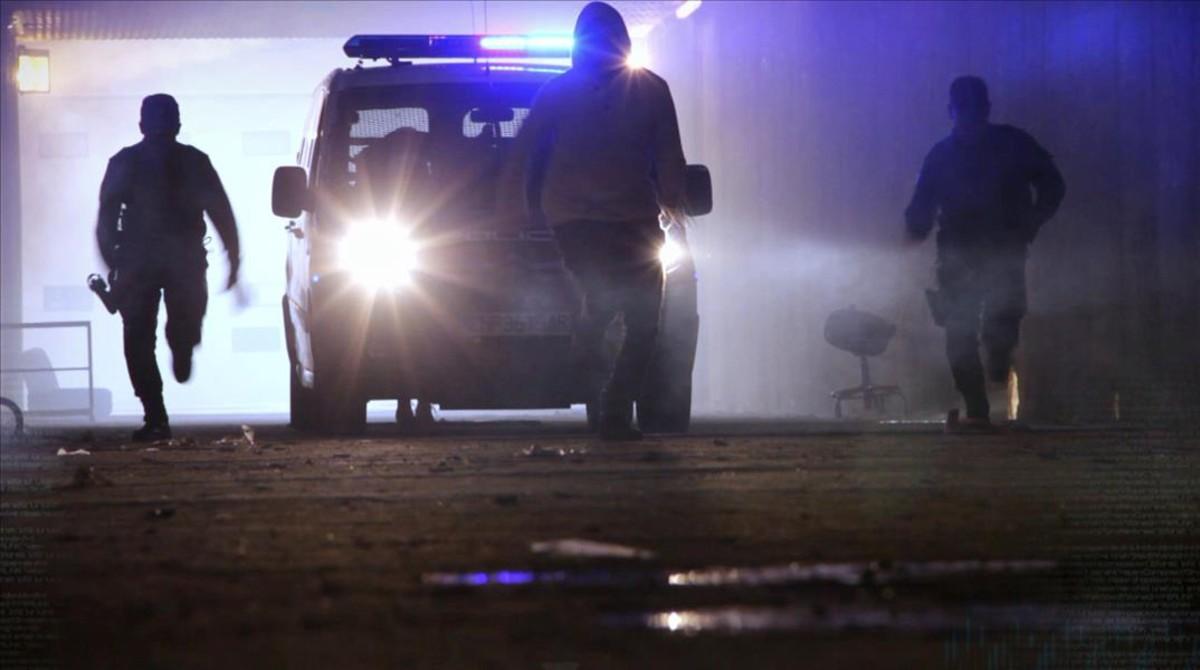 Secuencia de la cuarta temporada de 'Policías en acción', el 'docu-reality' de La Sexta.
