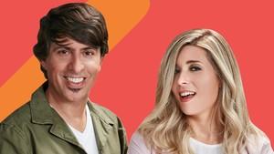 Dani Moreno El gallo y Cristina Boscá, presentadores de Anda ya.