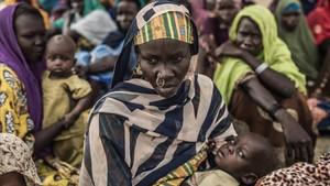 Desplazados del lago Chad.