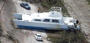 Devastación en la Bahama Grande tras el paso del huracán 'Dorian'.