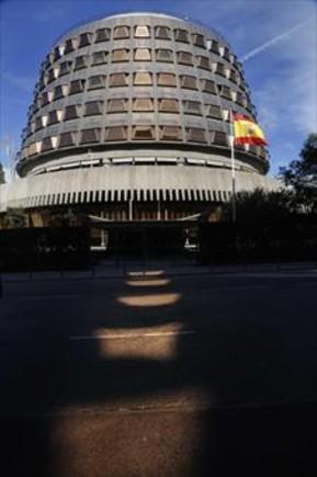 El edificio del Tribunal Constitucional, en Madrid, ayer.