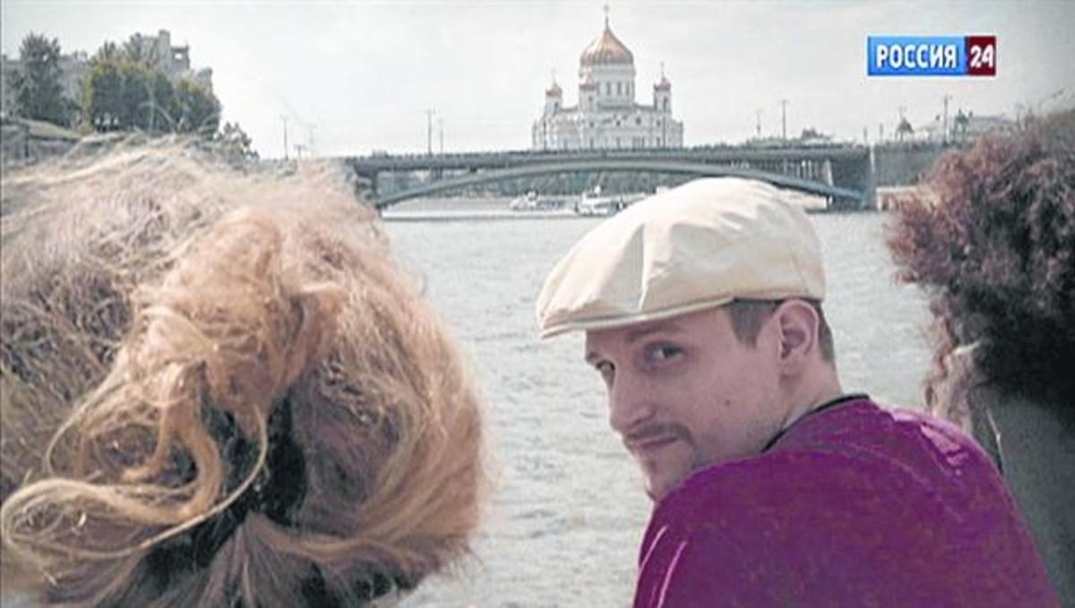 Edward Snowden, de crucero por el río Moscova, en la capital rusa, en el 2013.