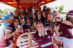 Jugadoras del equipo de fútbol Ferroviaria de Araraquara.