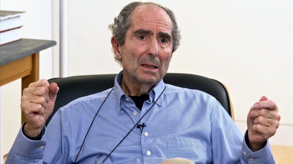 El escritor Philip Roth, durante una entrevista en el 2012.