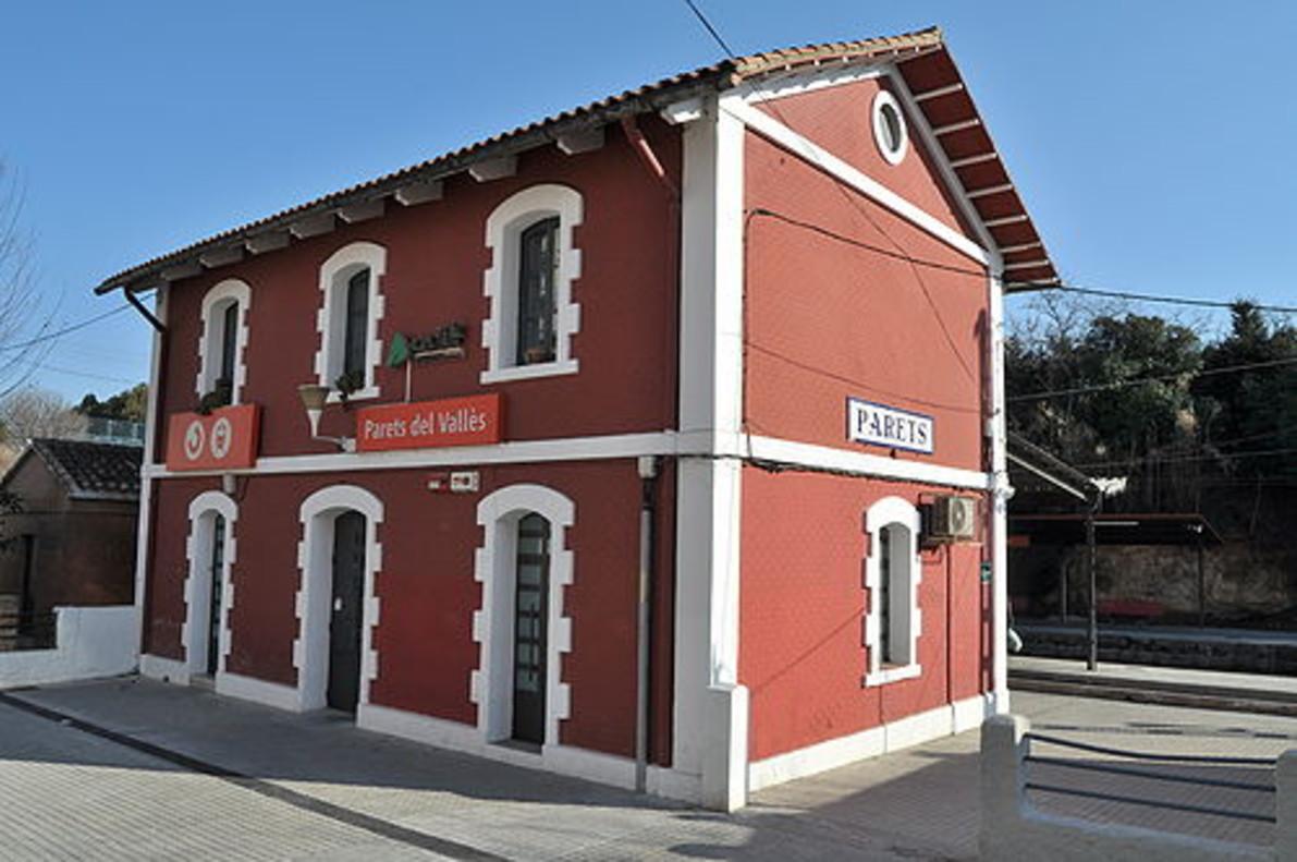 Estación de tren de Parets del Vallès.