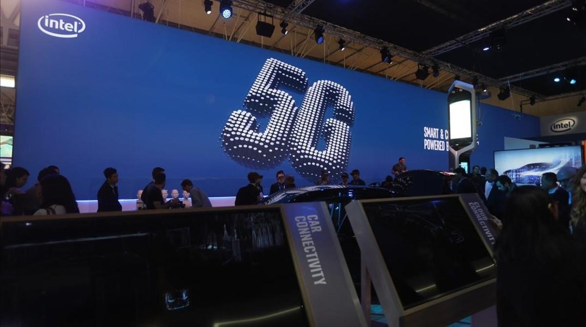 Estand de Intel en el Mobile World Congress 2017.