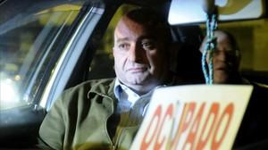 El exchófer de la Junta Juan Francisco Trujillo, en marzo del 2013,tras prestar declaración como imputado.