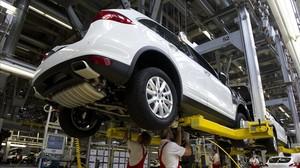 Fabricación de un Porsche Cayenne.