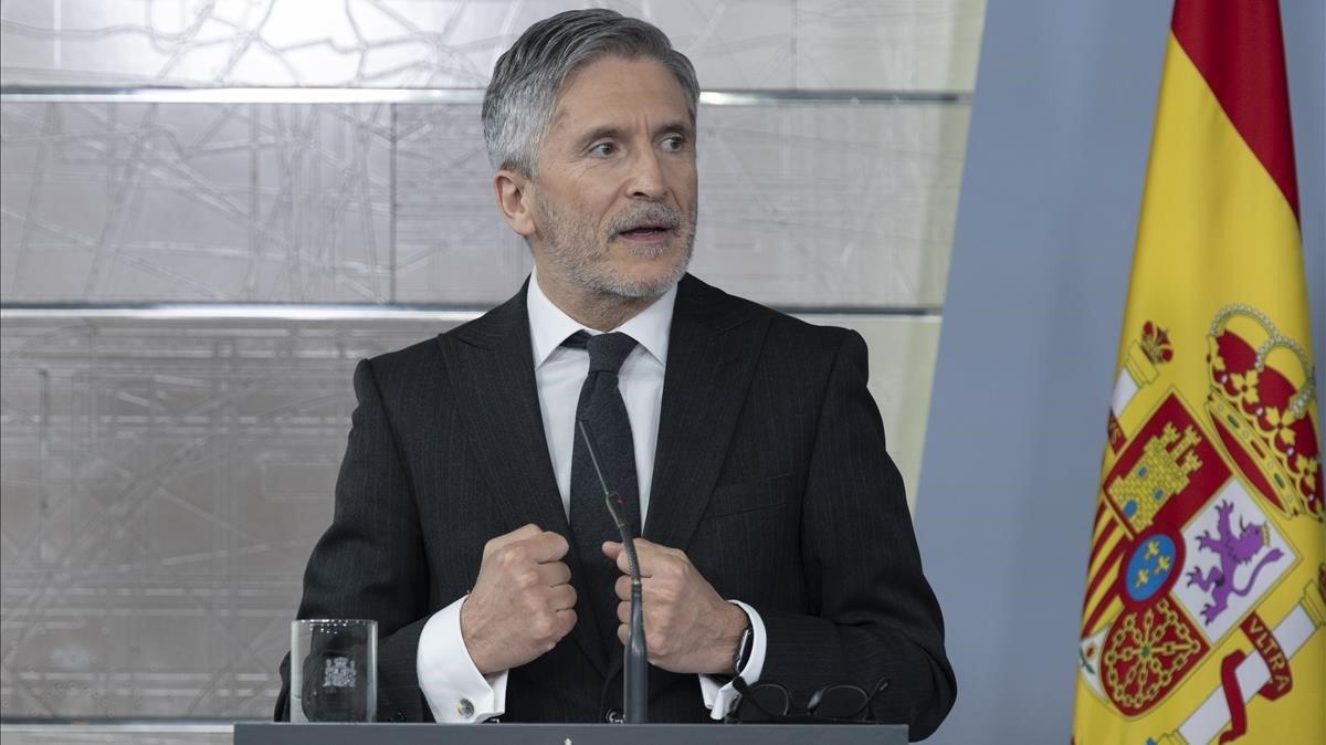 """Marlaska reduce la crisis en la Guardia Civil a un """"proceso natural"""""""