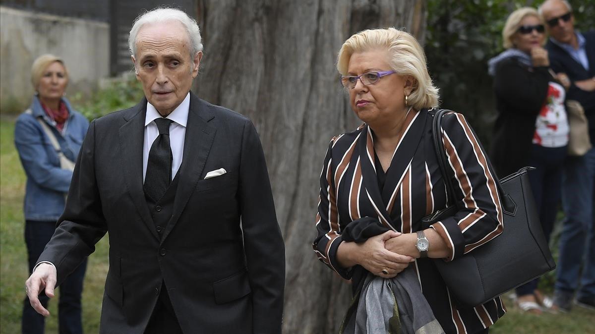Josep Carreras llega al funeral de Montserrat Caballé.