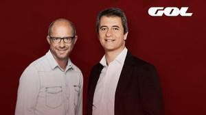 Jesús Gallego y Manolo Lama, en una imagen promocional de Gol, canal deportivo en abierto en el que presentarán un nuevo magacín deportivo.