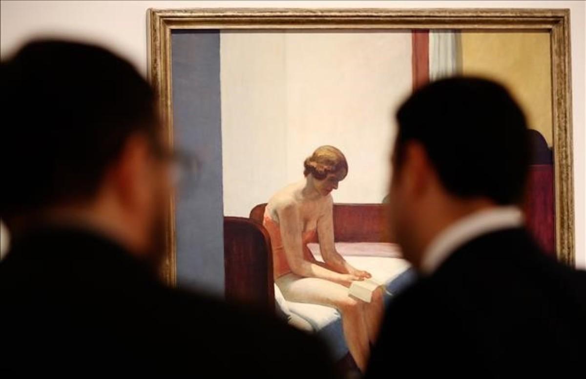 Habitación de hotel, de Edward Hopper, en la exposición Un Thyssen nunca visto.