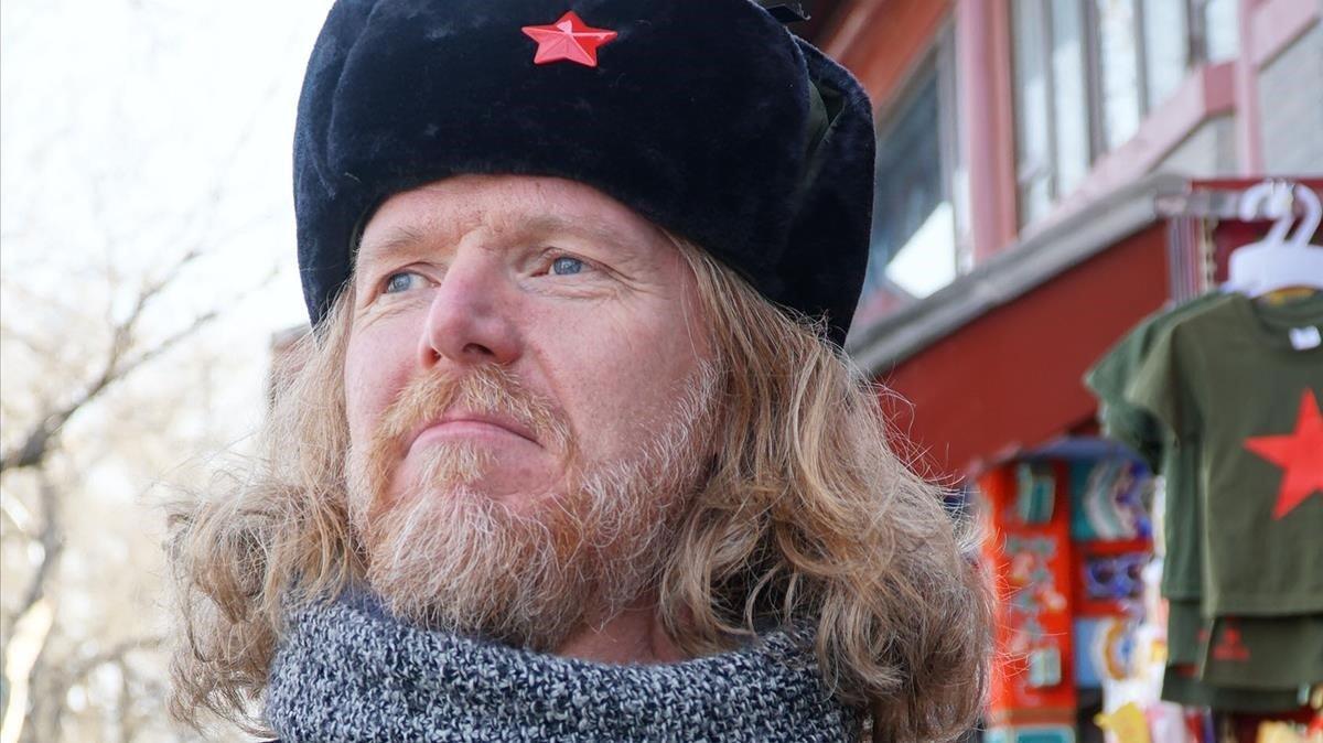El músico islandés Halldor Mar, presentador de 'Katalonski' (TV-3).