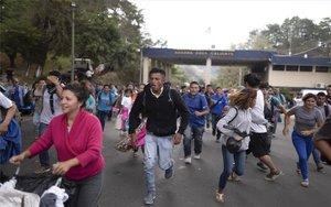 Caravana de inmigrantes hondureños.