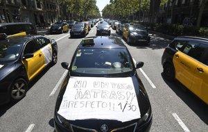 Huelga de taxis, el pasado julio.