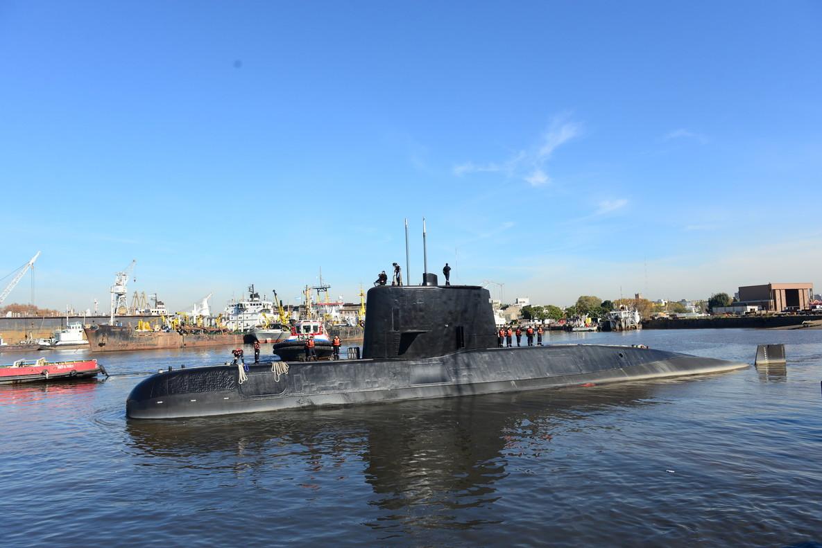 Imagen facilitada por la Armada argentina del submarino ARA San Juan, desaparecido en el Atlántico.