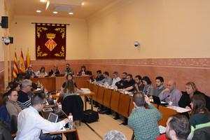 Imagen de un Pleno del Ayuntamiento de Rubí