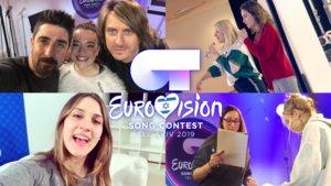 Imágenes de los ensayos de Marilía, Noelia, Sabela y María para la gala de Eurovisión de OT 2018.