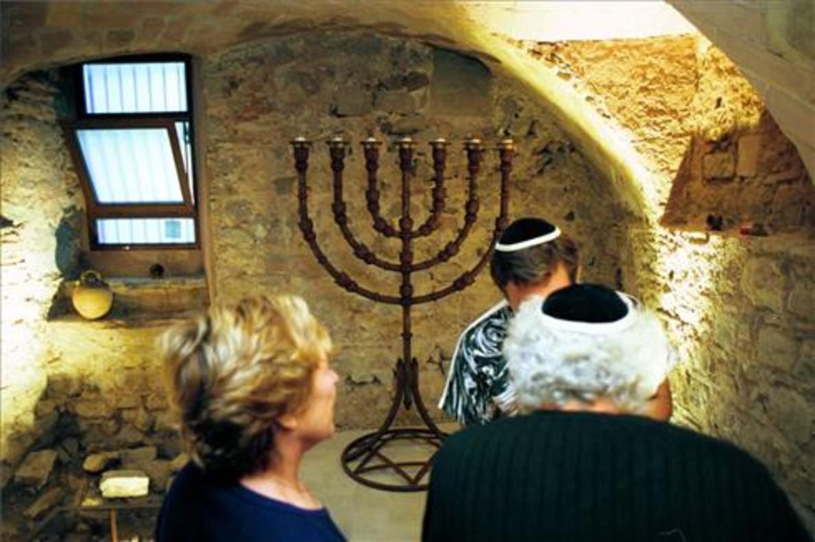 Interior de la Sinagoga Mayor de Barcelona.
