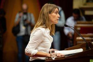 Jessica Albiach, en una intervención en el Parlament.