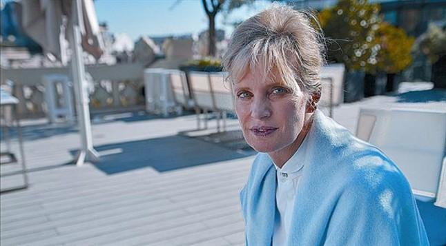 Lescriptora nord-americana Siri Hustvedt, en un cèntric hotel de Barcelona.