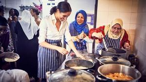 Meghan Markle recolza un projecte de cuina comunitària