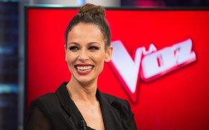 Eva González, en El hormiguero, anunciando que presentará La Voz en Antena 3.
