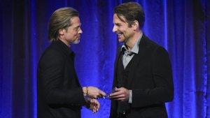 Brad Pitt y Bradley Cooper, este miércoles en Nueva York.