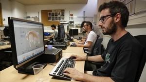 Responsables del centro de respuesta ante ataques informáticos CERT de la UPC.