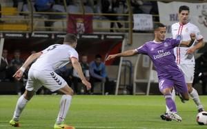 Lucas Vázquez, durante el encuentro de Copa del miércoles ante La Cultural Leonesa.